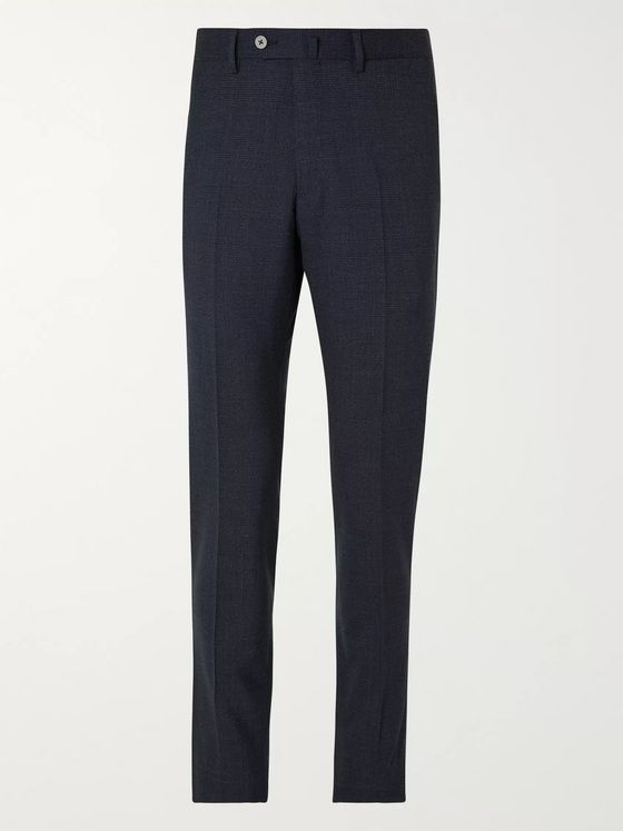 Caruso Slim-Fit Prince of Wales Checked Wool Suit Trousers