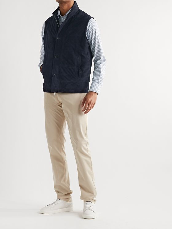 Peter Millar Quilted Suede Gilet
