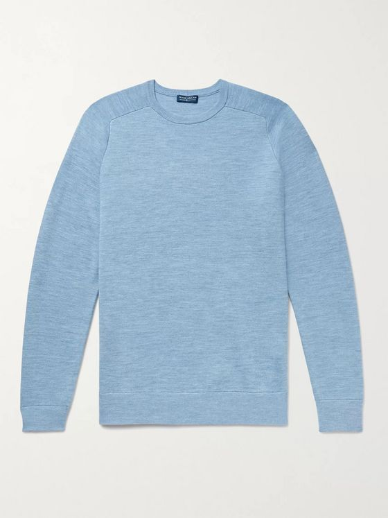 Peter Millar Mélange Merino Wool-Blend Sweater
