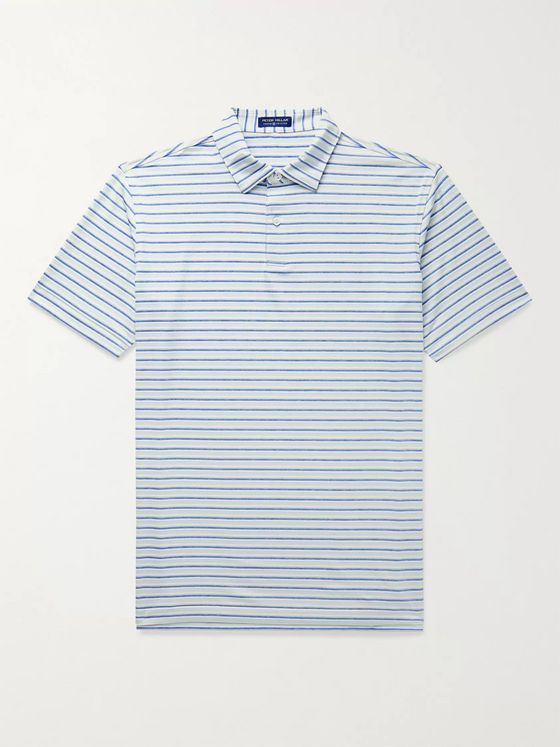 PETER MILLAR Kramer Striped Stretch-Jersey Polo Shirt