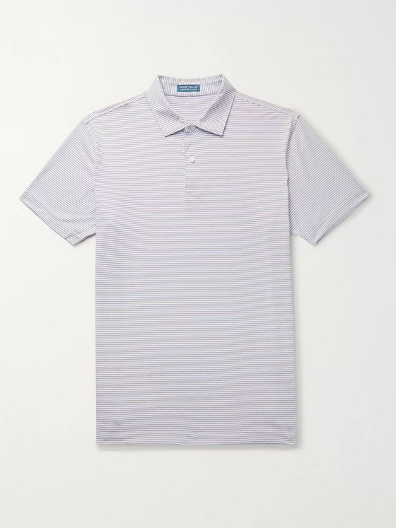 PETER MILLAR Bullock Striped Stretch-Jersey Polo Shirt
