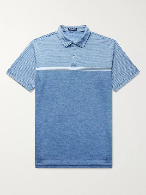 PETER MILLAR Walker Striped Stretch-Jersey Polo Shirt