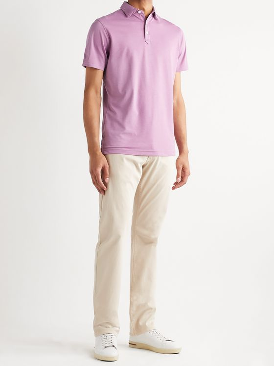 PETER MILLAR Ace Cotton-Blend Piqué Polo Shirt
