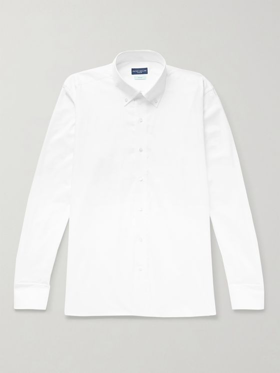 PETER MILLAR Summer Button-Down Collar Cotton Shirt