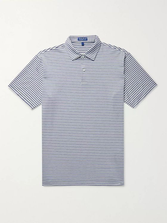 PETER MILLAR Miles Striped Stretch-Jersey Polo Shirt