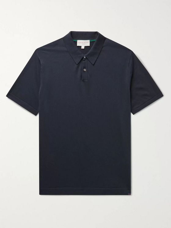 Derek Rose Jacob Sea Island Cotton Polo Shirt