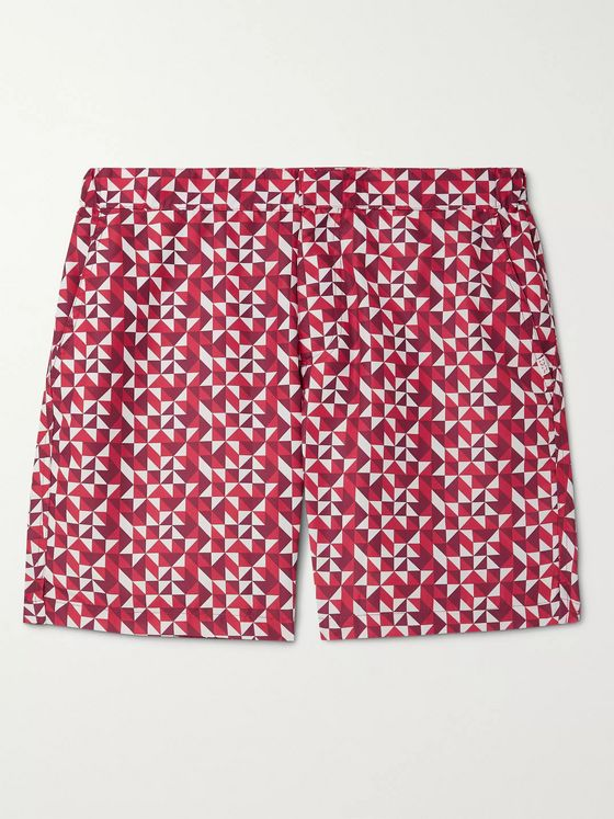Derek Rose Tropez 8 Slim-Fit Mid-Length Printed Swim Shorts
