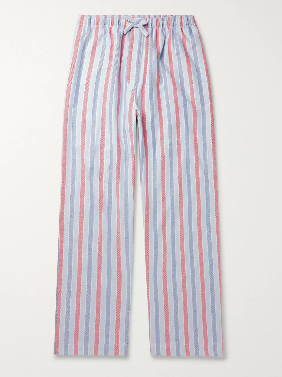 DEREK ROSE KELBURN STRIPED BRUSHED-COTTON PYJAMA TROUSERS