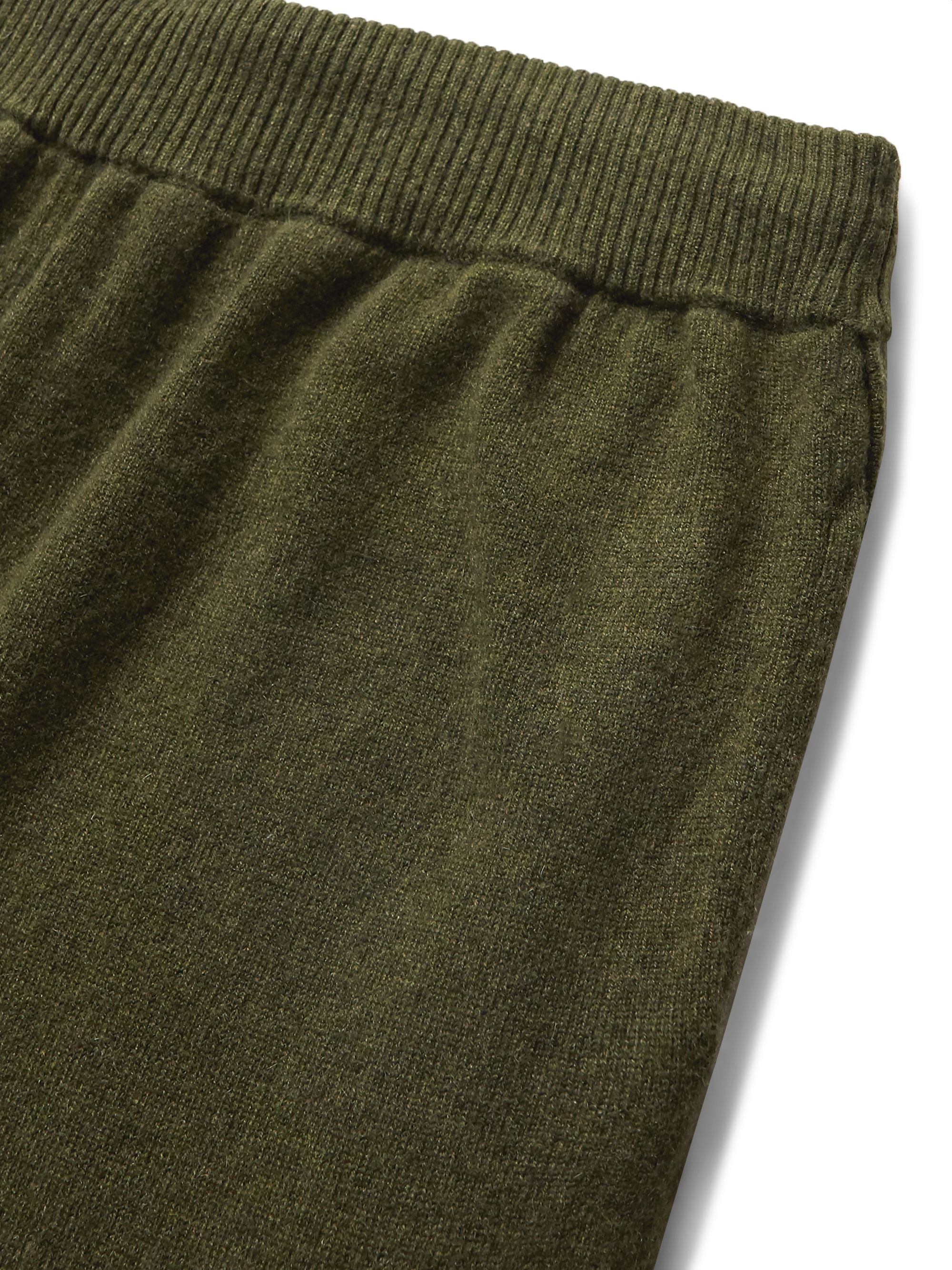 Army Green Finley Tapered Cashmere Sweatpants | Derek Rose