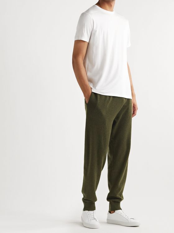 Derek Rose Finley Tapered Cashmere Sweatpants