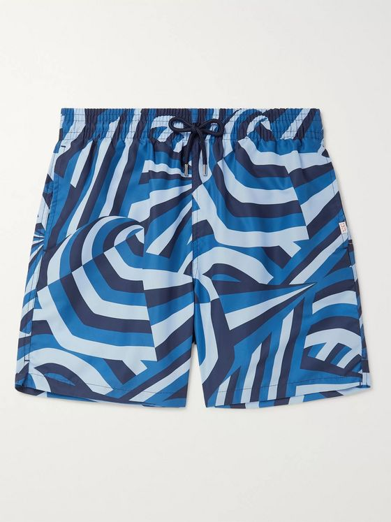 Derek Rose Maui 28 Slim-Fit Mid-Length Printed Swim Shorts