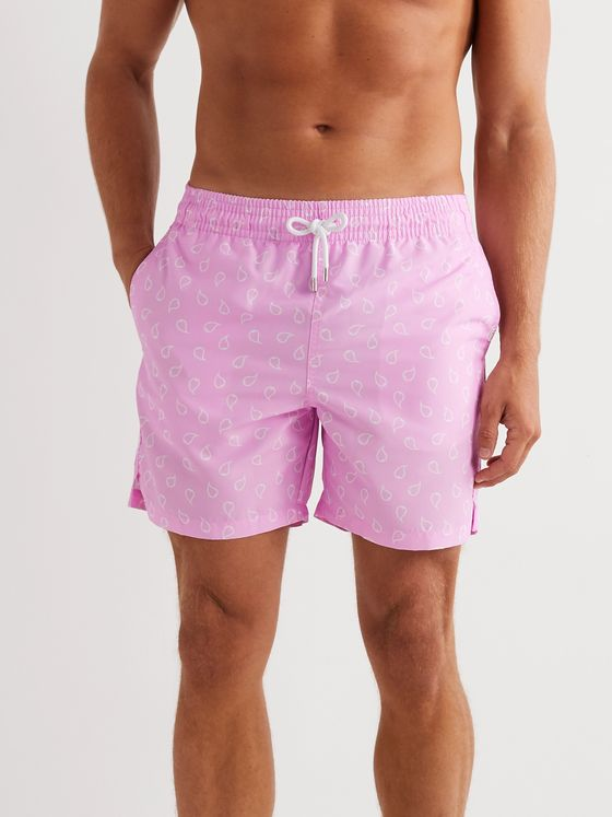 Derek Rose Maui 30 Slim-Fit Mid-Length Printed Swim Shorts