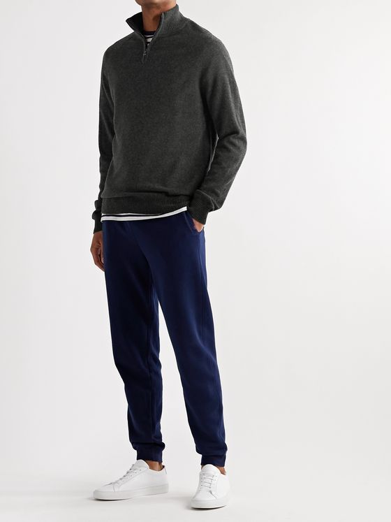 Derek Rose Finley 2 Cashmere Half-Zip Sweater