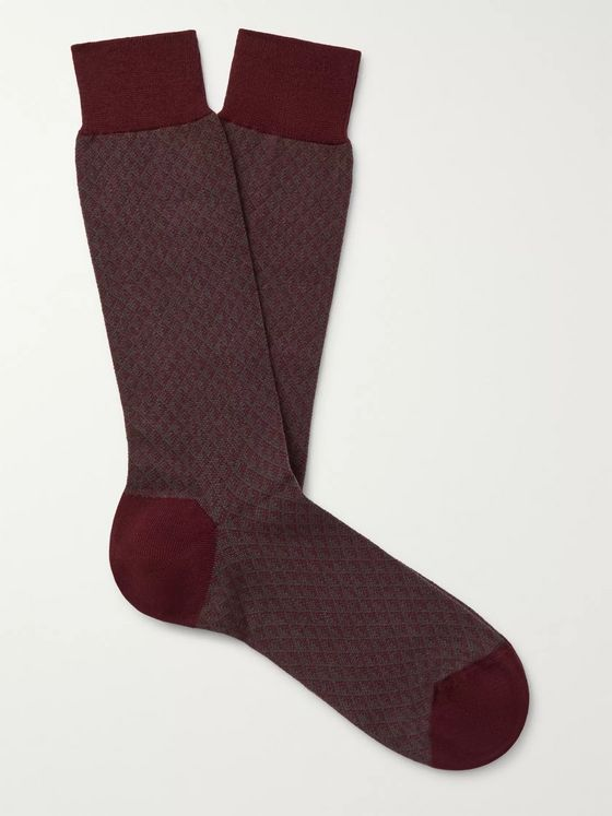 Ermenegildo Zegna Trigon Climax Stretch Cotton-Blend Socks