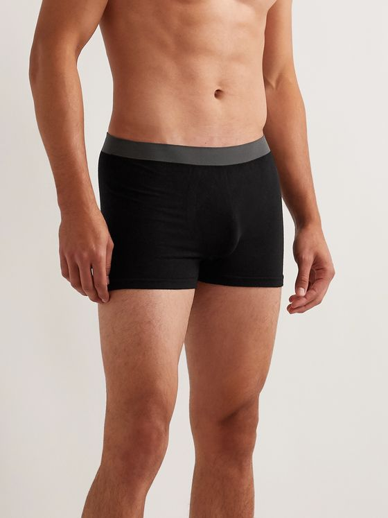 Hamilton and Hare Five-Pack Bamboo-Blend Boxer Briefs