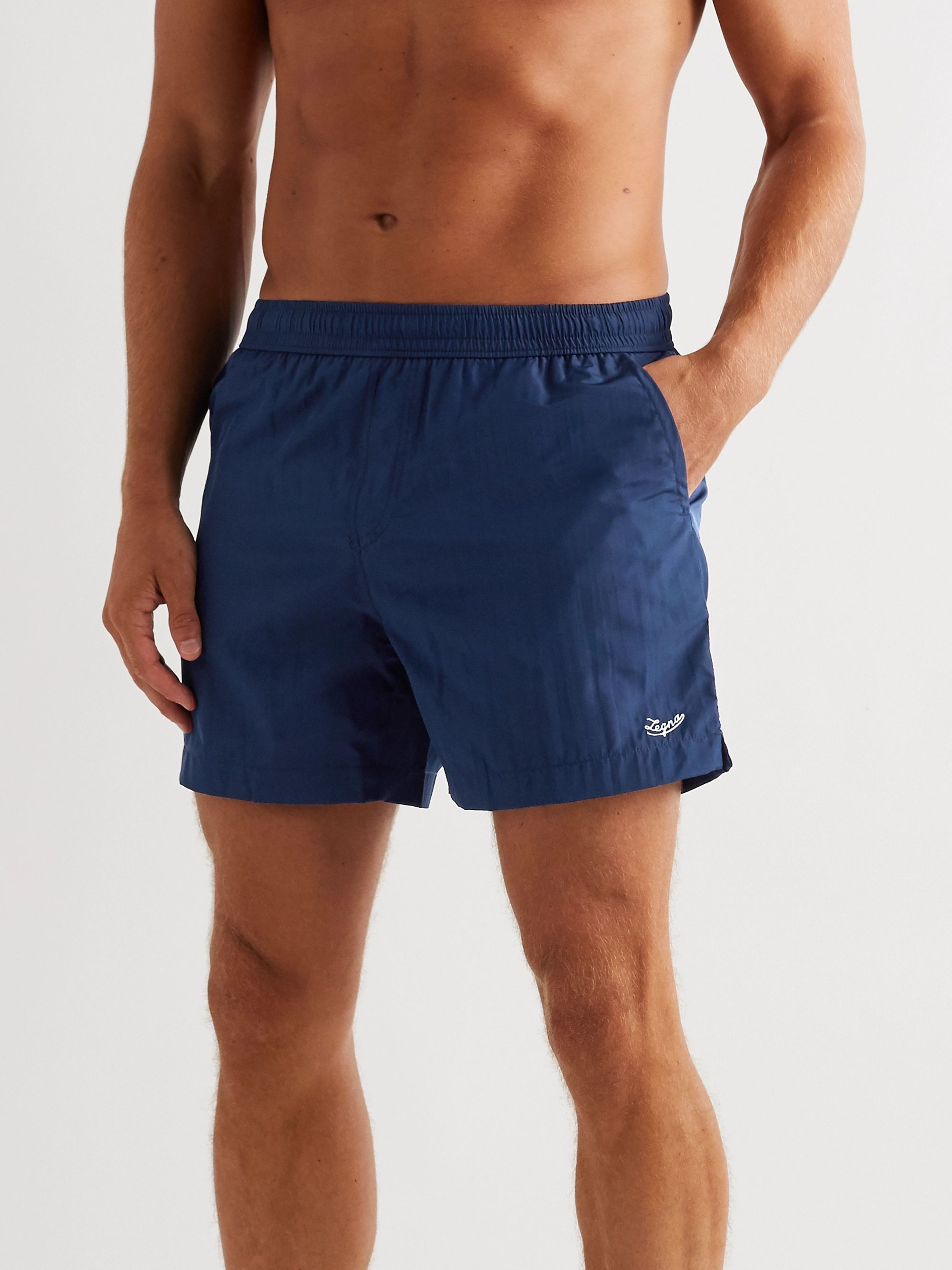 Ermenegildo Zegna Slim-Fit Mid-Length Swim Shorts