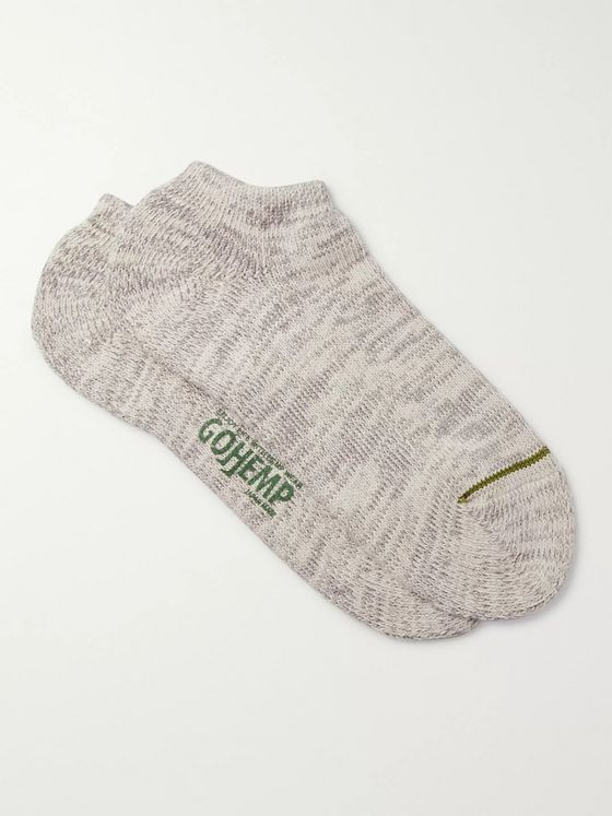 Anonymous Ism Mélange Cotton and Hemp-Blend Socks