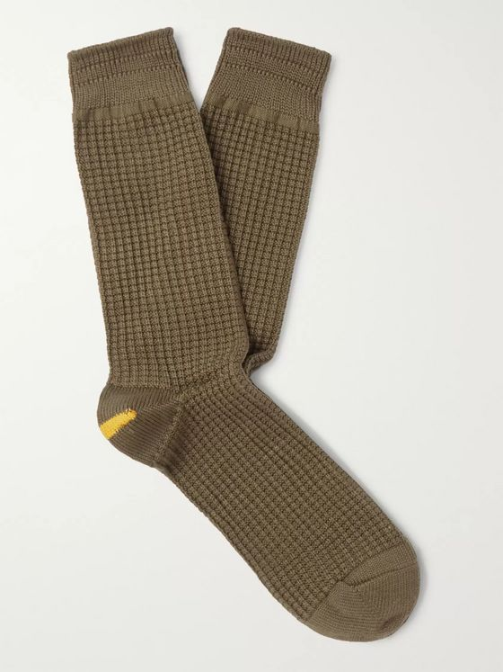 Anonymous Ism Waffle-Knit Socks