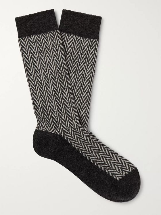 Anonymous Ism Herringbone Knitted Socks