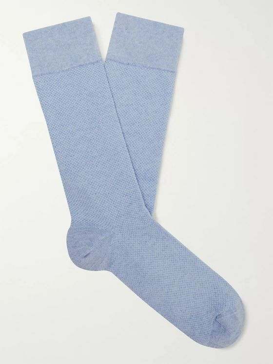 Oliver Spencer Loungewear Miller Mélange Stretch Cotton-Blend Socks