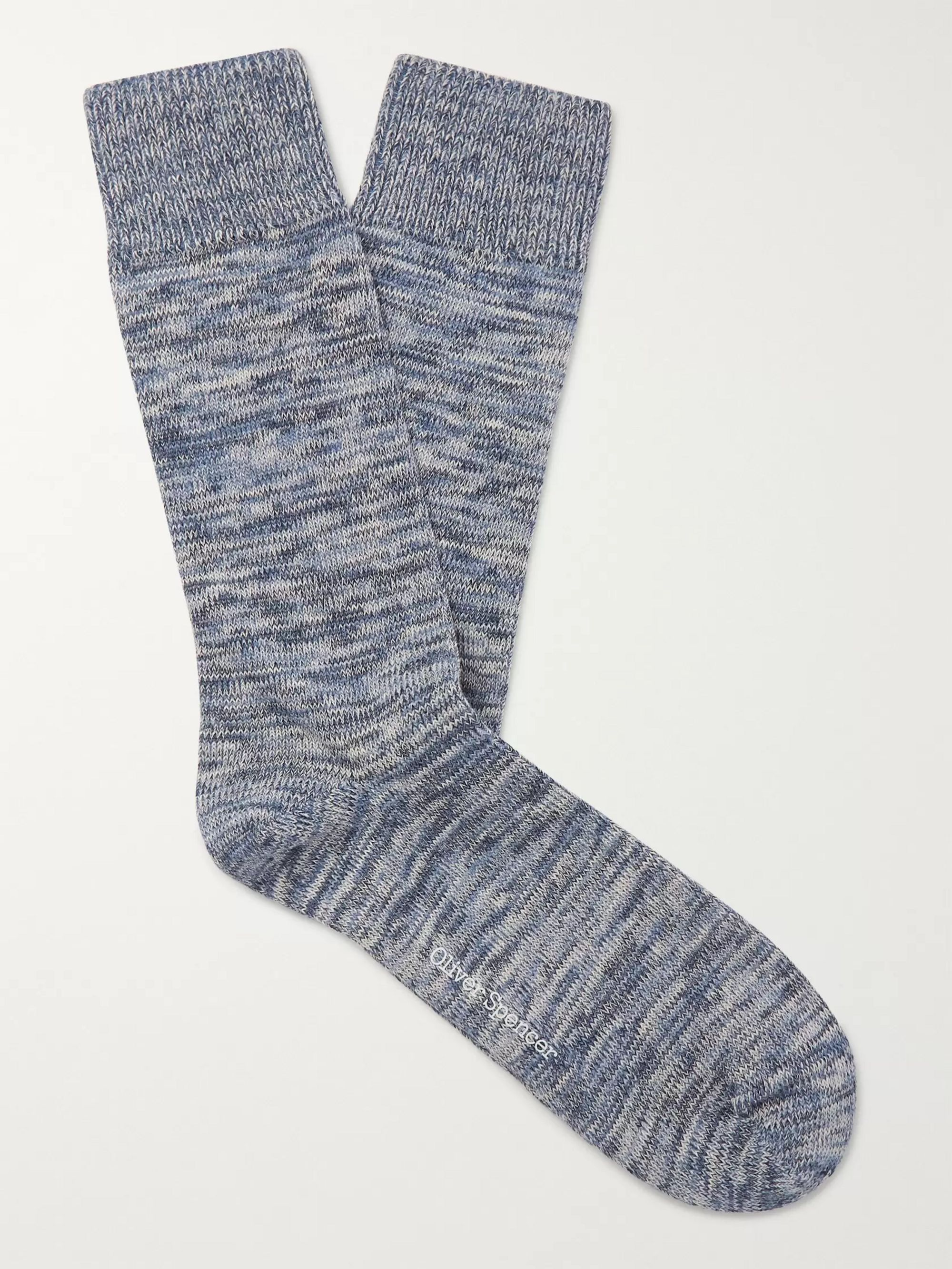 Oliver Spencer Loungewear Miller Stretch Cotton-Blend Socks