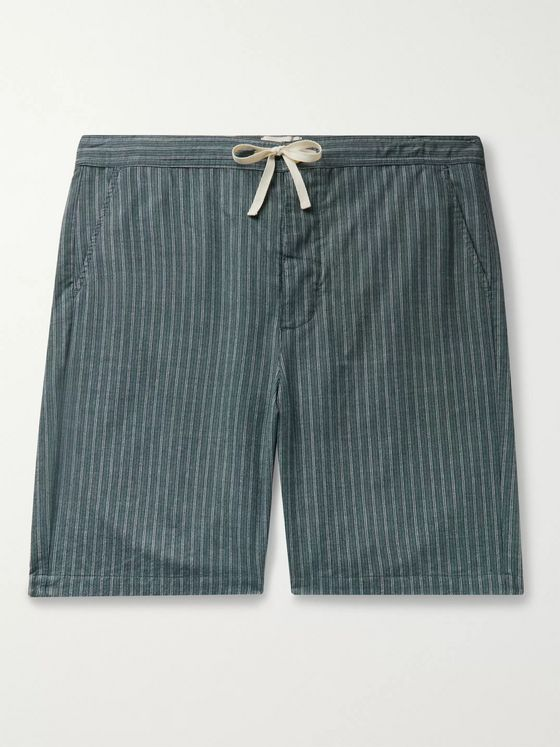 Oliver Spencer Loungewear Townsend Striped Organic Cotton Pyjama Shorts