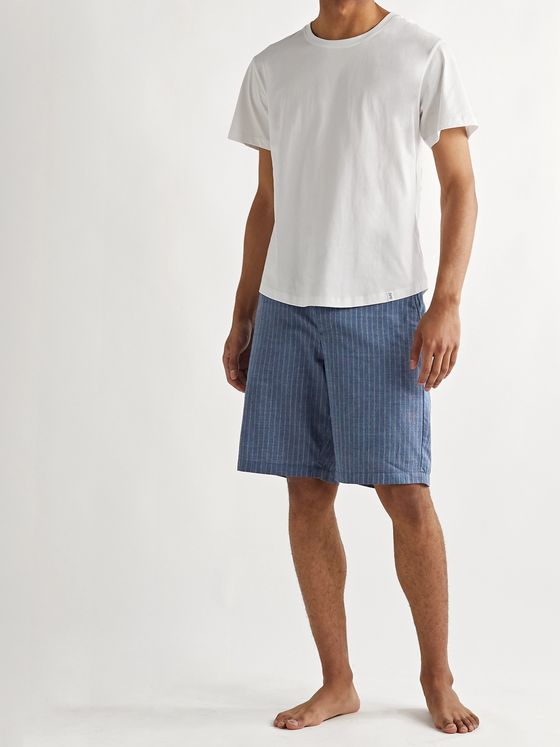 Oliver Spencer Loungewear Townsend Striped Cotton Pyjama Shorts