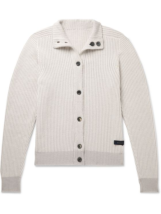 SEASE Reversible Cashmere and Cotton-Blend Cardigan