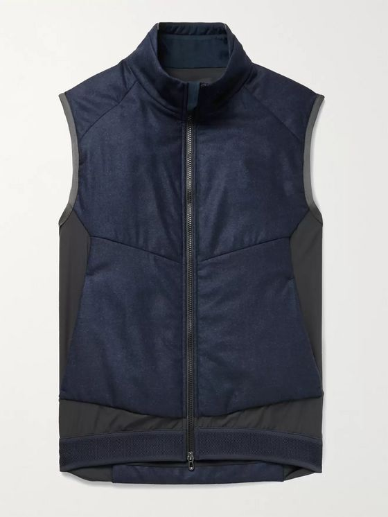 Sease Predator Panelled Virgin Wool and Stretch-Nylon Gilet