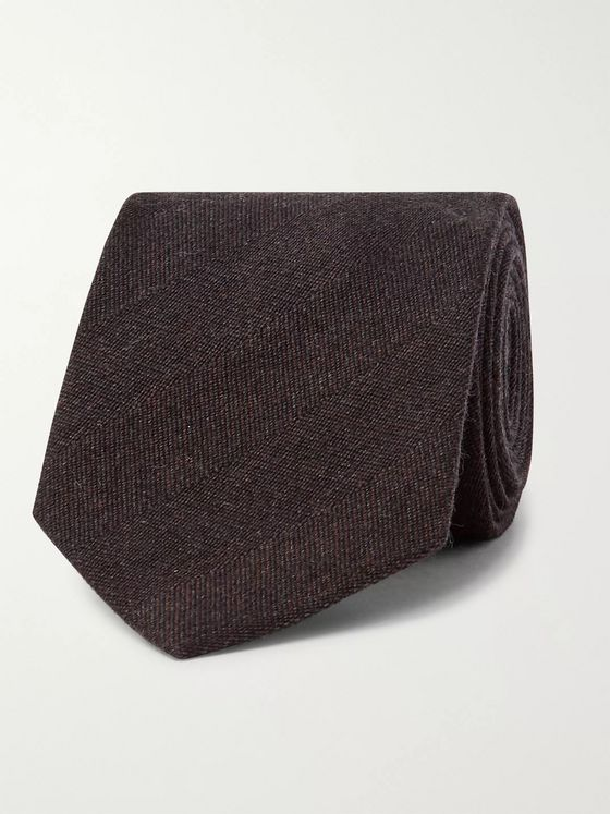 TOM FORD 7.5cm Herringbone Wool and Silk-Blend Tie