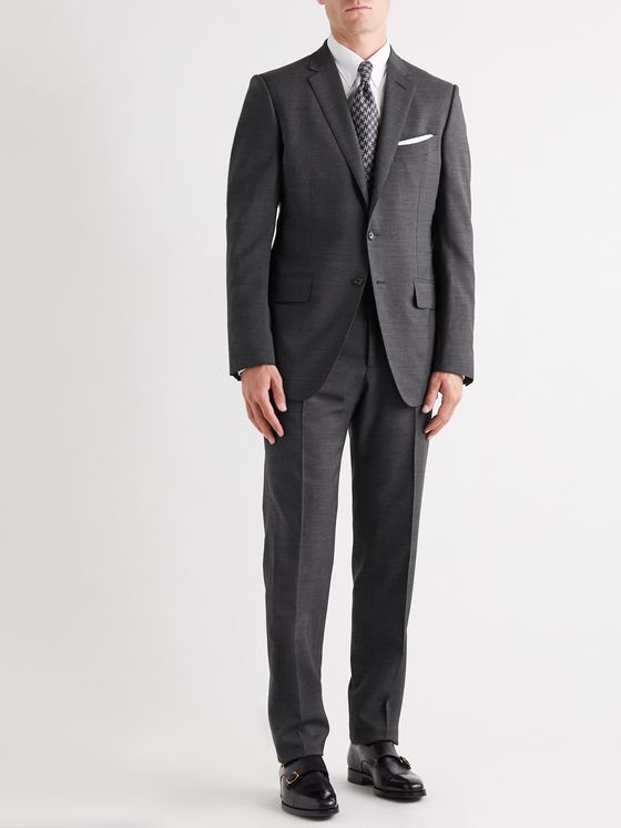 TOM FORD O'Connor Mélange Wool-Blend Suit Trousers