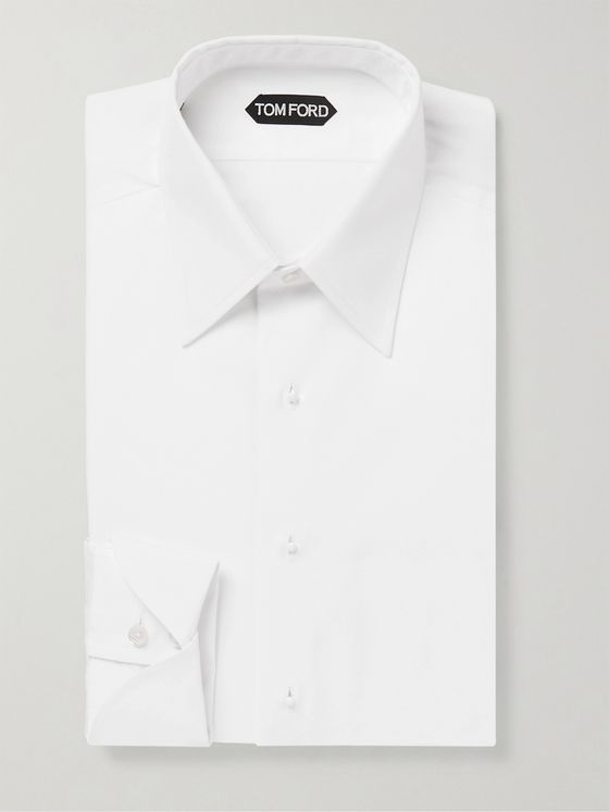 TOM FORD Slim-Fit Bib-Front Cotton Shirt