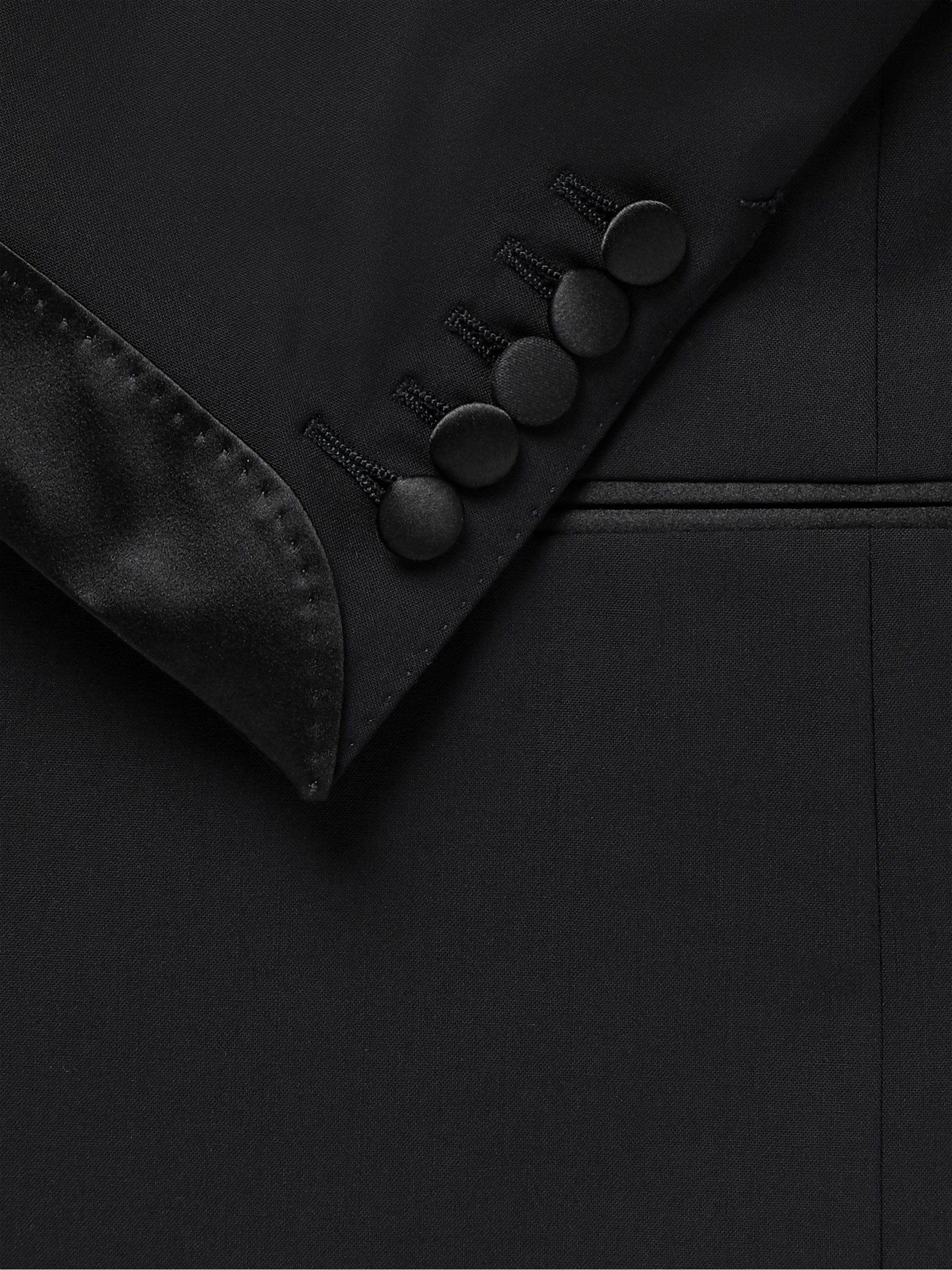 TOM FORD Slim-Fit Satin-Trimmed Stretch-Wool Tuxedo Jacket