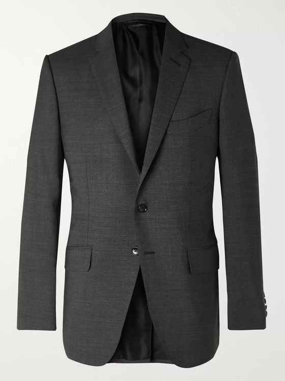TOM FORD O'Connor Mélange Wool-Blend Suit Jacket