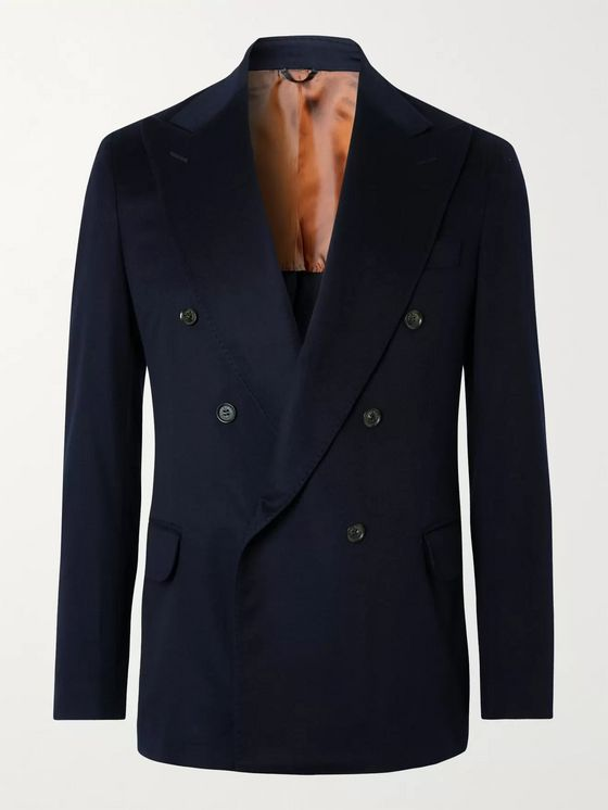 LORO PIANA Double-Breasted Cashmere Blazer