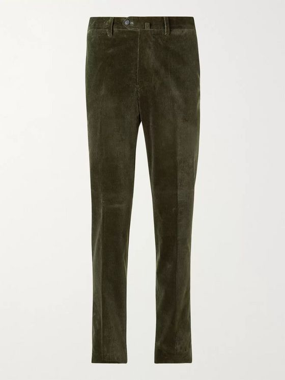 De Petrillo Stretch-Cotton Corduroy Trousers
