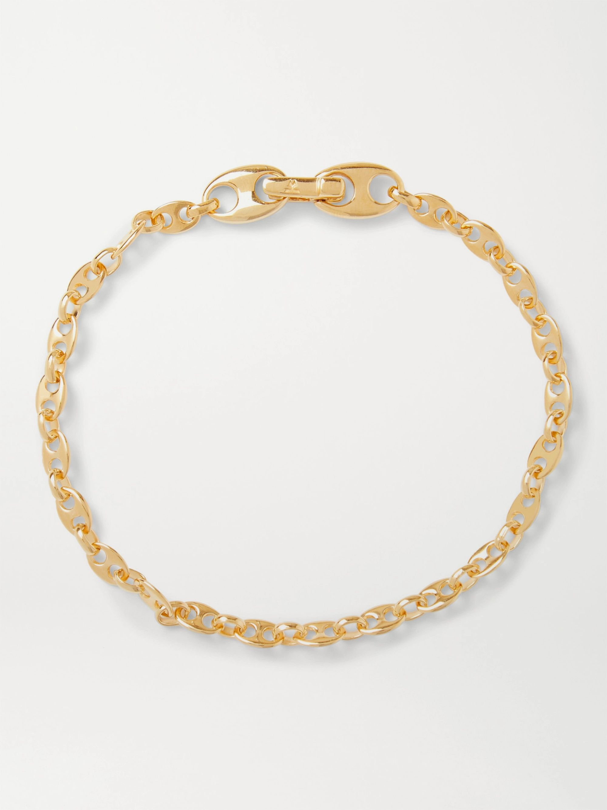 TOM WOOD Bean Gold-Plated Sterling Silver Chain Bracelet