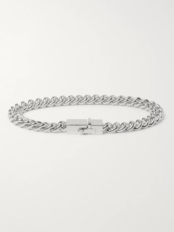 Tom Wood Rhodium-Plated Sterling Silver Chain Bracelet