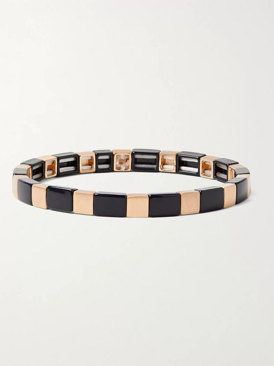 Roxanne Assoulin Enamel and Gold-Tone Bracelet