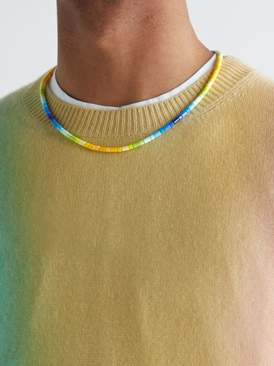 Roxanne Assoulin Surf's Up Enamel and Gold-Tone Necklace