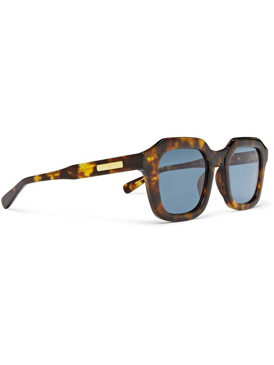 Native Sons Matheson Square-Frame Tortoiseshell Acetate Sunglasses