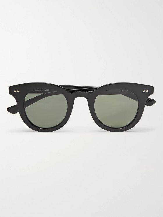 Native Sons Merrimack Round-Frame Acetate Sunglasses