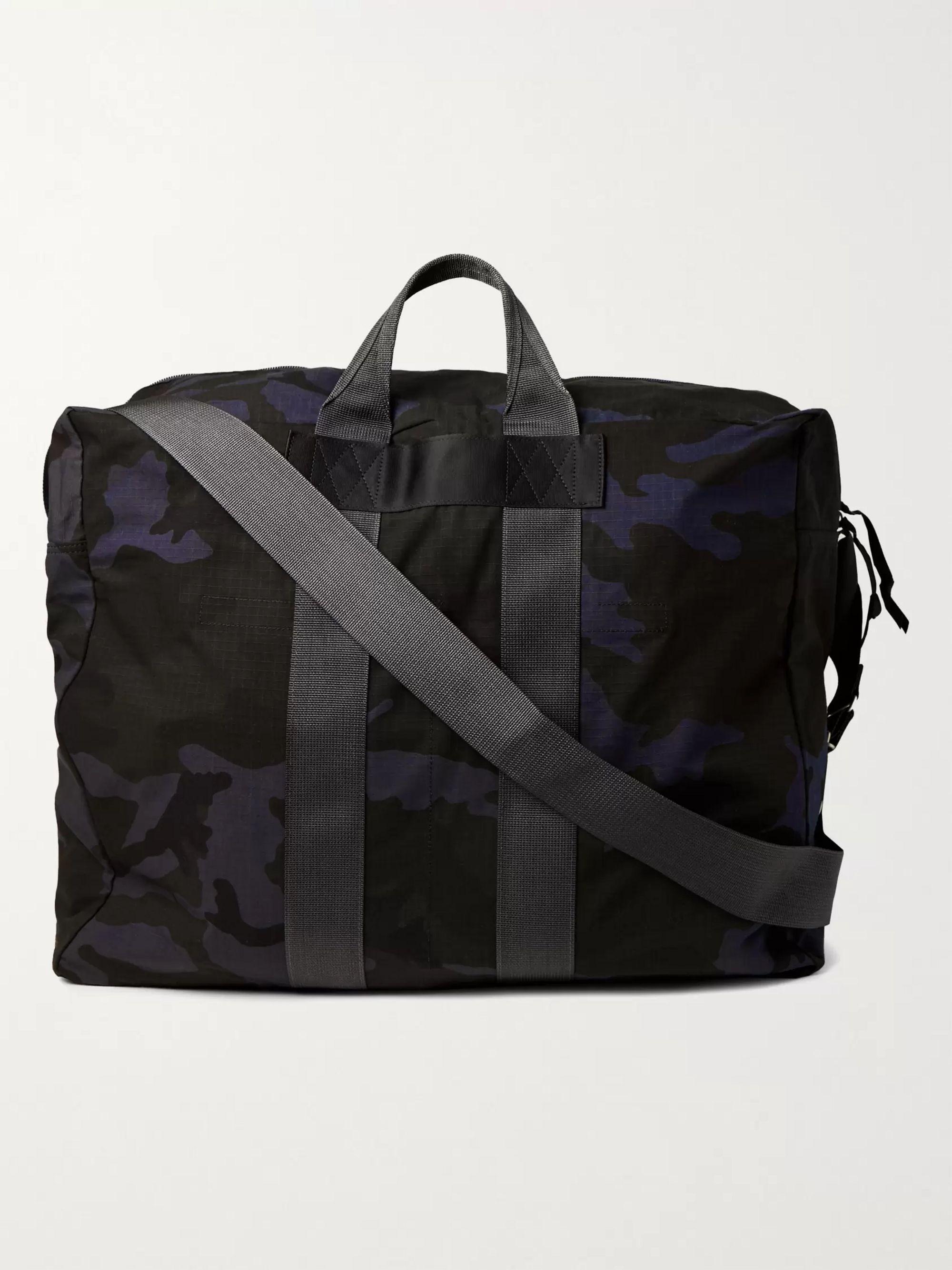 PORTER-YOSHIDA & CO Camouflage-Print Nylon and Cotton-Ripstop Tote Bag,Navy