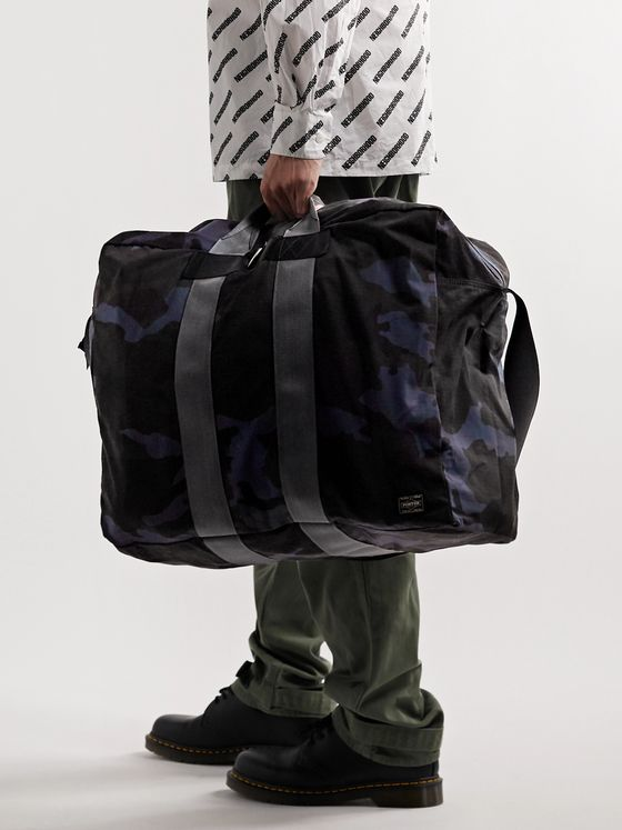 PORTER-YOSHIDA & CO Camouflage-Print Nylon and Cotton-Ripstop Tote Bag