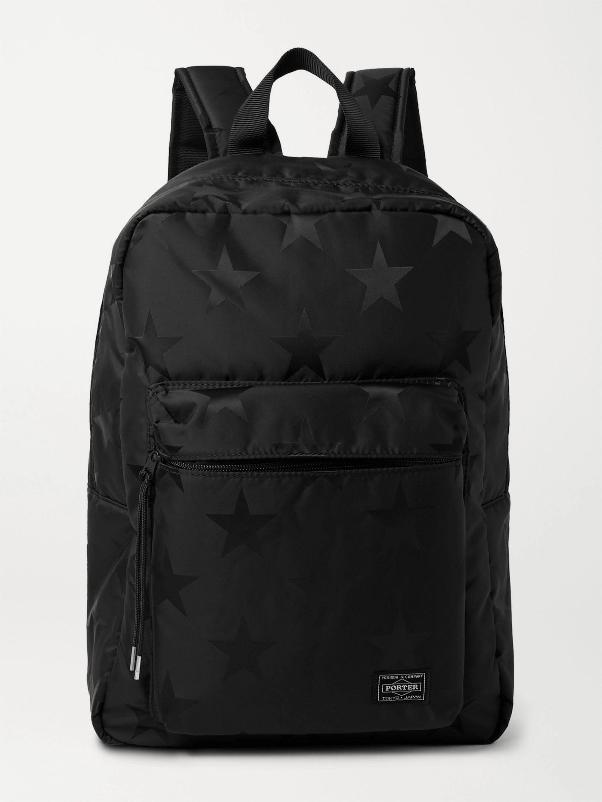PORTER-YOSHIDA & CO Star-Print Nylon Backpack,Black