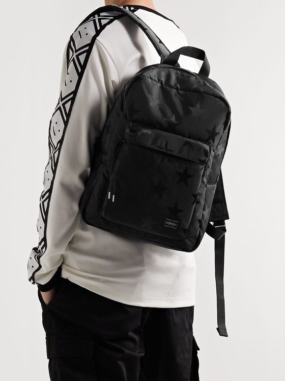 PORTER-YOSHIDA & CO Star-Print Nylon Backpack