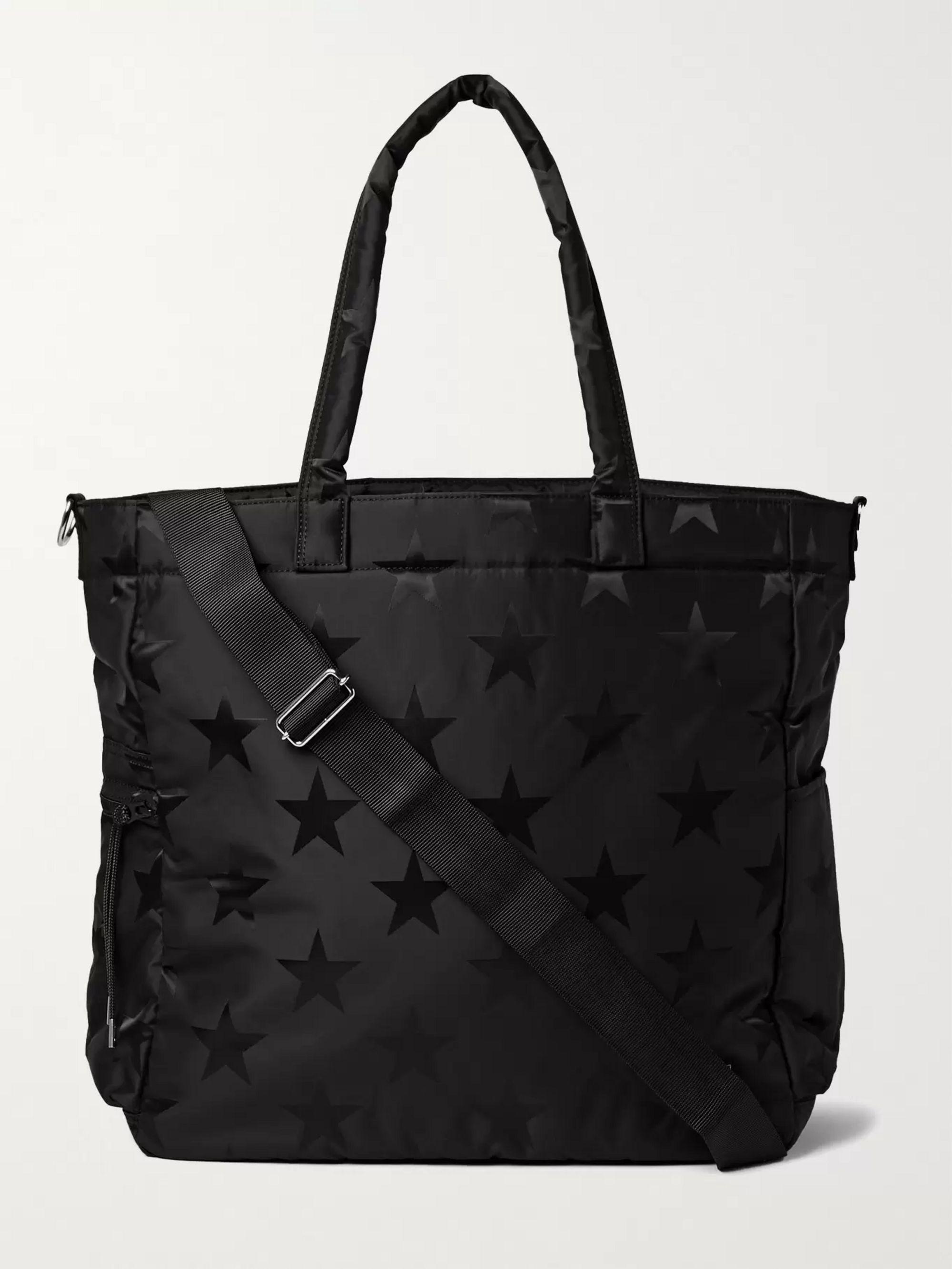 PORTER-YOSHIDA & CO 2Way Padded Printed Nylon Tote Bag,Black