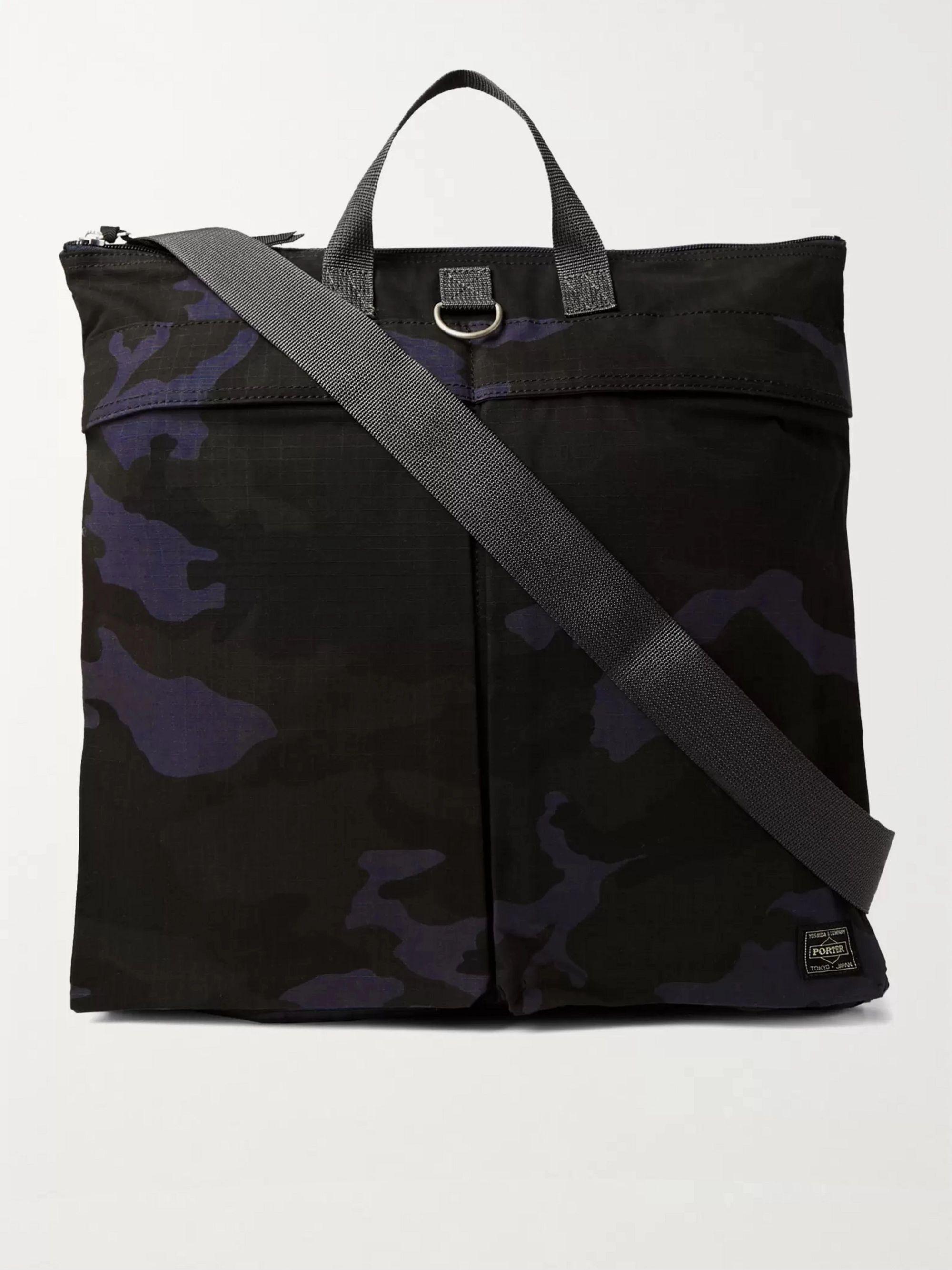 PORTER-YOSHIDA & CO Platoon Camouflage-Print Ripstop Tote Bag,Navy