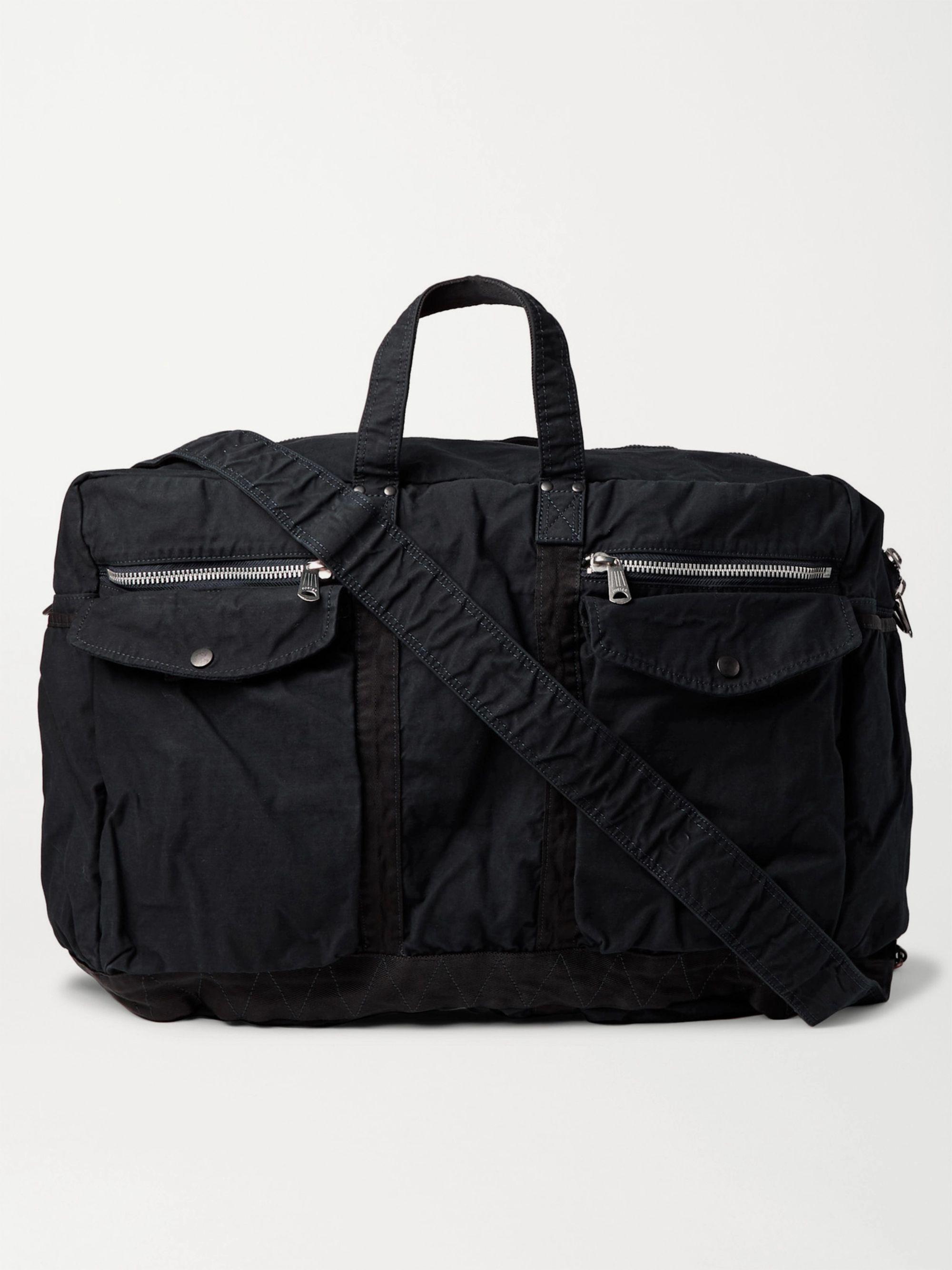 PORTER-YOSHIDA & CO 2Way Large Canvas Duffle Bag,Midnight blue