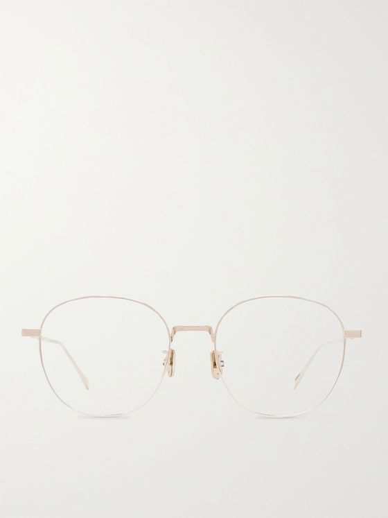 Berluti Round-Frame Gold-Tone Optical Glasses